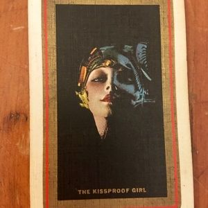 Vtg 1928 Rolf Armstrong 'The Kissproof Girl' cards
